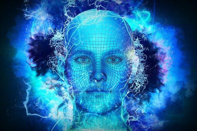 animace robotické tváře