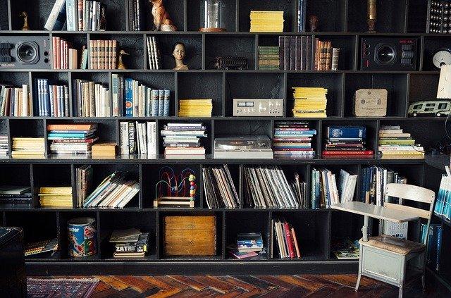prostorná domácí knihovna