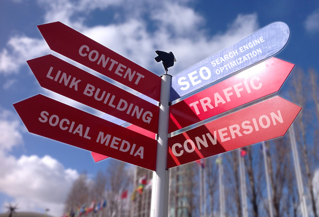 ukazatel nejrůznějších směrů on-line marketingu